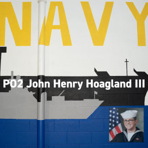Navy mural at Combined Arms. PO2 John Henry Hoagland III. Memorial Day 2019.